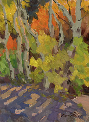 High Sierra Painting - Golden Light And Shadow by Diane McClary