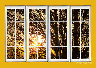 Room With A View Photograph - Golden Light Shining Through Picture Window View by James BO  Insogna
