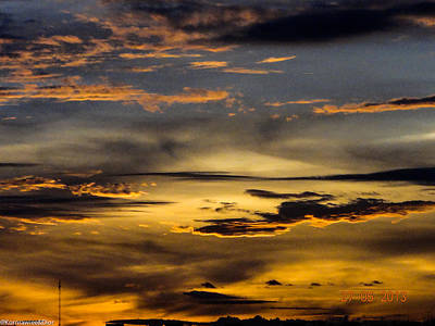 Photograph - Golden Lines by Kornrawiee Miu Miu