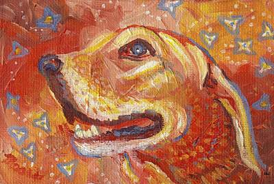 Pop Painting - Golden Love by Linda Mears