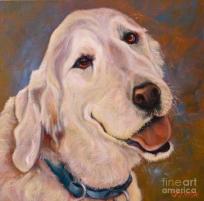 Oil Drawing - Golden Meditation by Susan A Becker