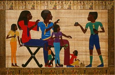 Papyrus Painting - Golden Moments by Karen Buford