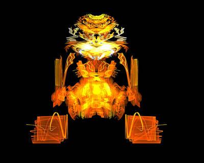 Creature Digital Art - Golden Monkey by R Thomas Brass