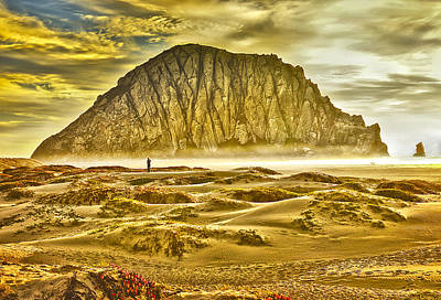 Golden Morro Bay Print by Camille Lopez