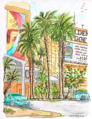 Golden Nugget Hotel And Casino Entrance - Laughlin - Nevada Original by Carlos G Groppa