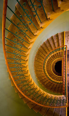 Gold Tone Photograph - Golden Ornamented Staircase by Jaroslaw Blaminsky