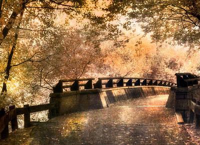New Hampshire Photograph - Golden Pathway - Mine Falls Park by Joann Vitali