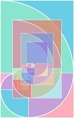 Salmon Mixed Media - Golden Ratio Abstract by Tony Rubino