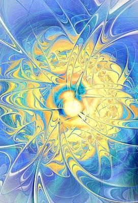 Meditation Digital Art - Golden Reflection by Anastasiya Malakhova