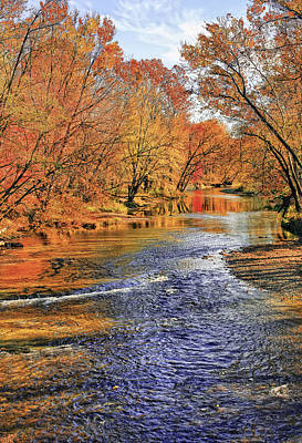 River Photograph - Golden Reflections by Marcia Colelli