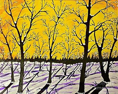 Golden Shadows Print by Jeffrey Koss