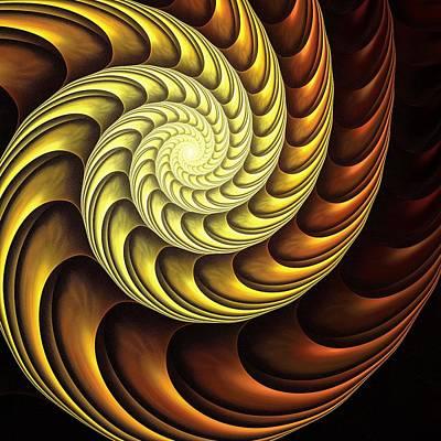 Geek Digital Art - Golden Spiral by Anastasiya Malakhova