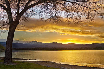 Corporate Art Photograph - Golden Spring Time Twin Peaks Sunset View by James BO  Insogna