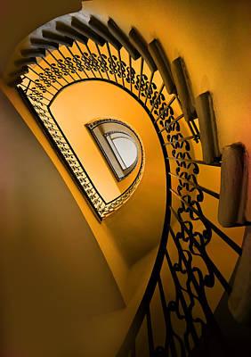 Gold Tone Photograph - Golden Staircase by Jaroslaw Blaminsky