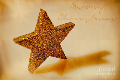 Backup Photograph - Golden Star Merry Christmas by Sabine Jacobs