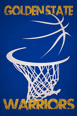 Golden State Warriors Hoop Print by Joe Hamilton