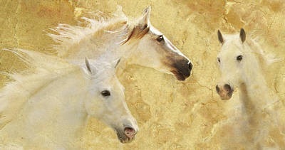 Golden Steeds Original by Melinda Hughes-Berland