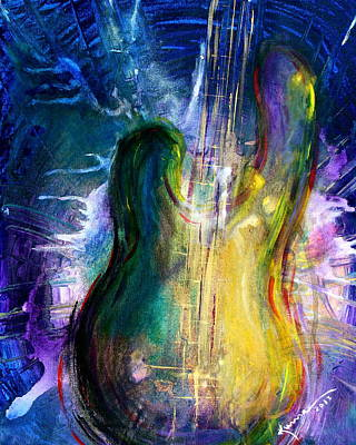 Good Times Painting - Golden Strings by Kume Bryant