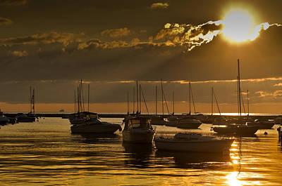 Golden Sunrise Chicago Original by Steve Gadomski