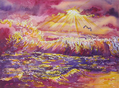 Golden Sunset Original by Estela Robles
