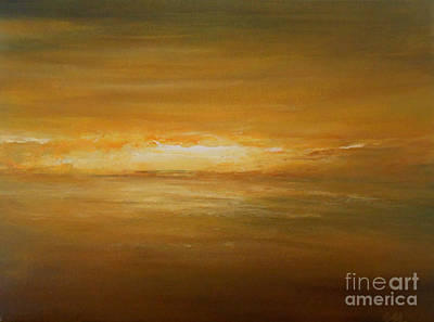 Golden Sunset Print by Jane  See