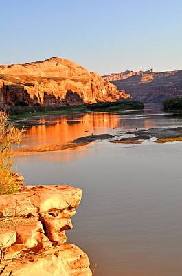 Photograph - Golden Sunset On The Colorado by Marty Koch