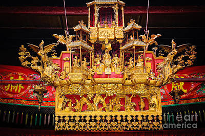 Temple Photograph - Golden Temple Decoration - Sze Yah Chinese Temple - Kuala Lumpur - Malaysia by David Hill