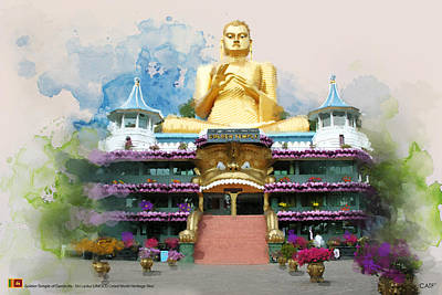 Golden Temple Of Dambulla Print by Catf