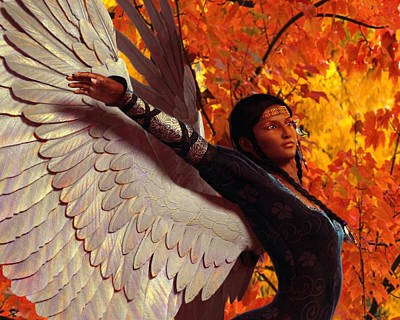 Angel Painting - Golden Vision by Suzanne Silvir