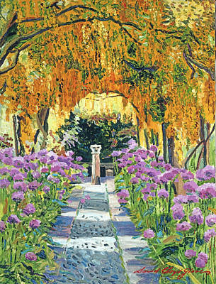 Golden Walk Print by David Lloyd Glover
