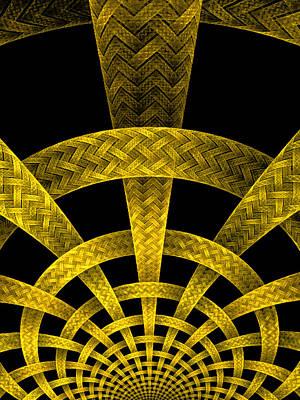 Surreal Digital Art - Golden Weave by Ester  Rogers