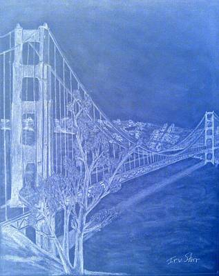 Golder Gate Bridge Inverted Print by Irving Starr