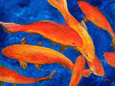 Goldfish By Jan Matson Print by Jan Matson
