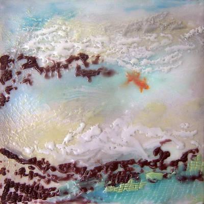 Encaustic Painting - Goldfish No. 1 by Victoria Primicias