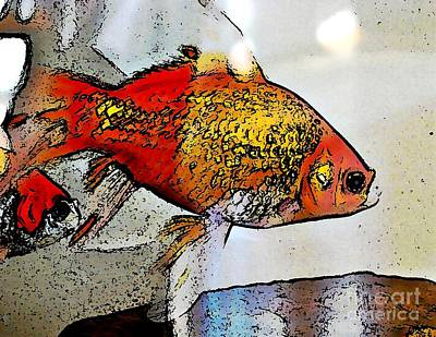 Goldfish Digital Art - Goldfish by Sarah Loft