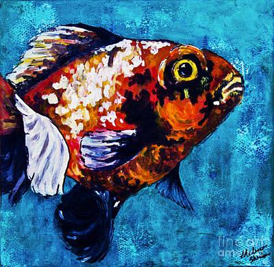 Aquatic Mixed Media - Goldie by Melissa Sherbon