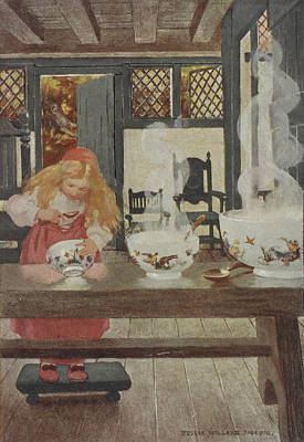 Porridge Photograph - Goldilocks by British Library