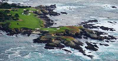Linked Photograph - Golf Course On An Island, Pebble Beach by Panoramic Images