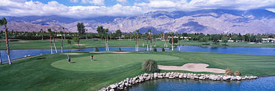 Water Play Photograph - Golf Course, Palm Springs, California by Panoramic Images