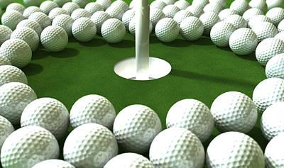 Targets Digital Art - Golf Hole Assault by Allan Swart
