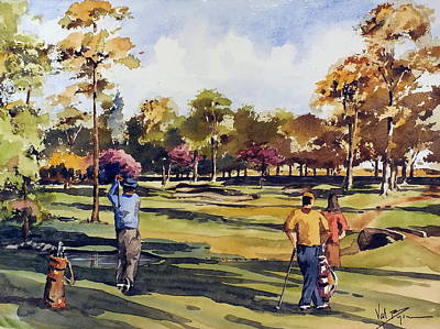 Golf Mixed Media - Golf In Ireland by Val Byrne