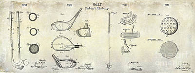 Iron Photograph - Golf Patent History Drawing by Jon Neidert
