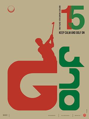 Golf Poster Print by Naxart Studio