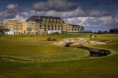 Golf Photograph - Wall Art Swilcan Bridge St Andrews Scotland by Alex Saunders