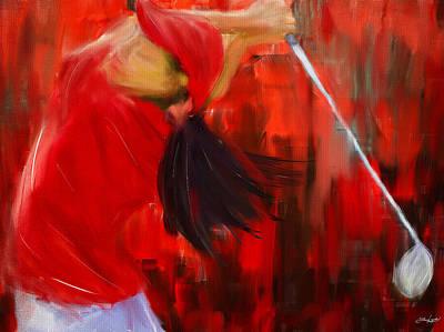 Golf Club Digital Art - Golf Swing by Lourry Legarde