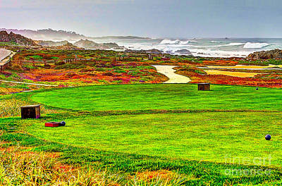 Golf Tee At Spyglass Hill Print by Jim Carrell