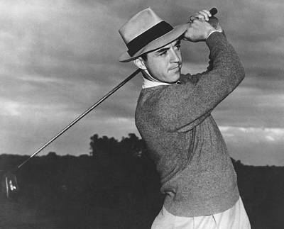 Golfer Sam Snead Print by Underwood Archives