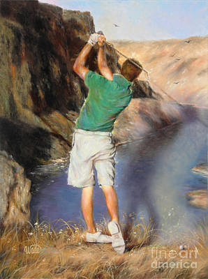 Golfer Painting - Golfer by Vickie Wade