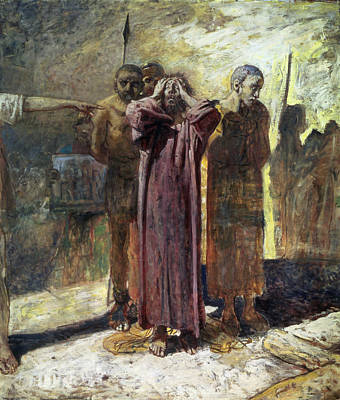 Thief Photograph - Golgotha, 1892-93 Oil On Canvas by Ge