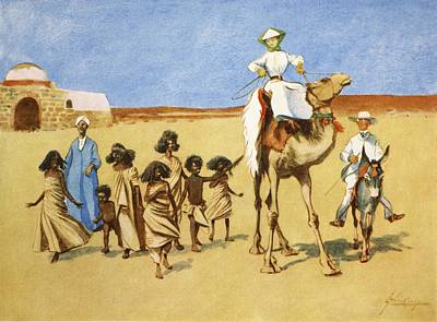 Donkey Drawing - Gollywogs Of The Desert, From The Light by Lance Thackeray